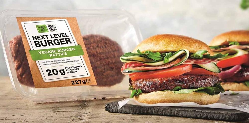 Hamburguesa vegana Next Level de Lidl
