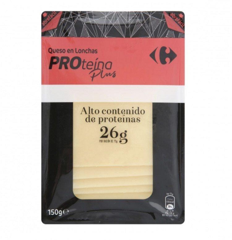 Queso en lonchas ProteIna Plus Carrefour - 7 productos de Carrefour para para hacer una dieta fitness