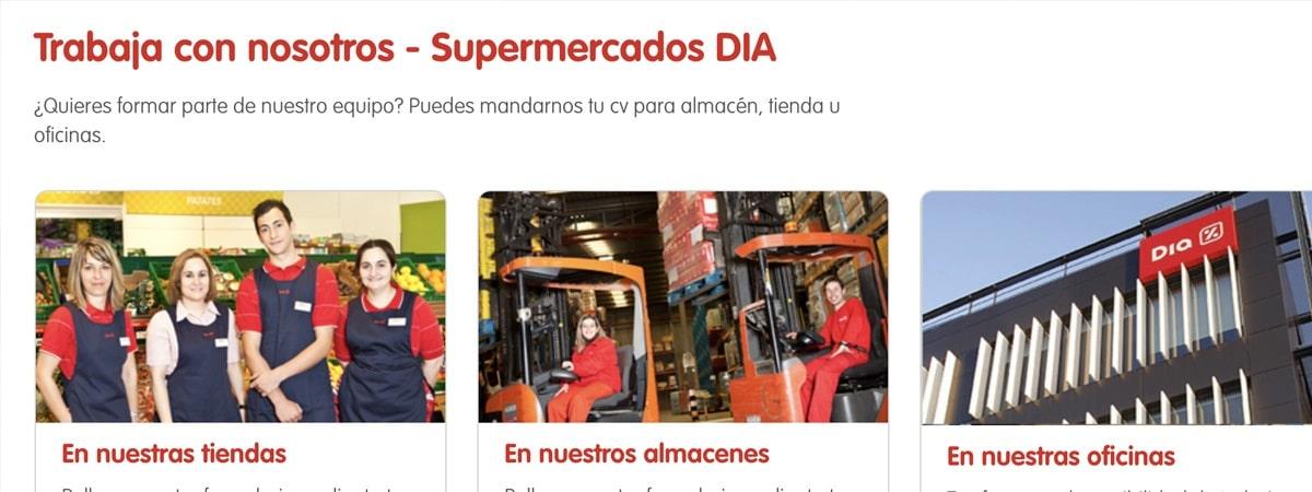 Oferta de 100 empleos en supermercados DIA %