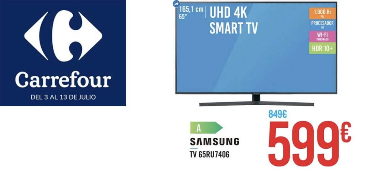 Ofertas en televisores en Carrefour del 3 al 13 julio