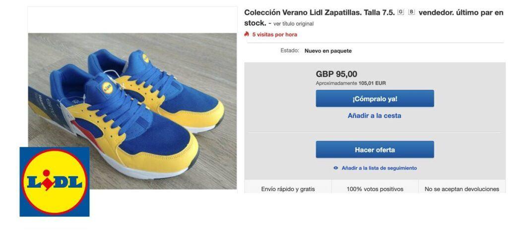 EBAY zapatillas lidl 1024x473 - Locura con las Zapatillas de Lidl