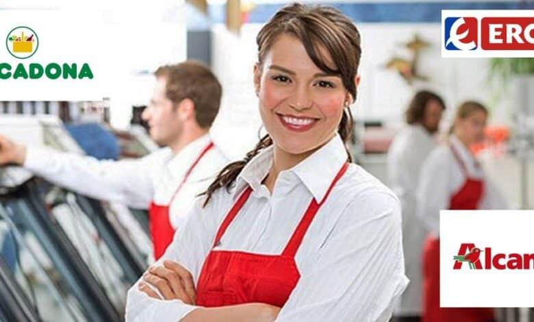 Ofertas de empleo en Mercadona, Alcampo y Eroski