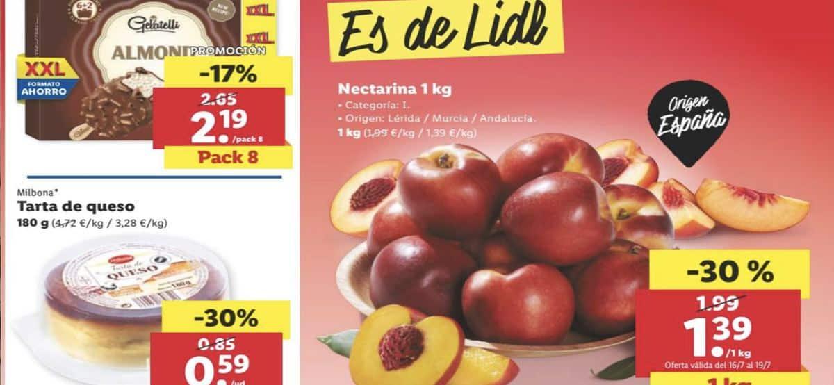 Folleto alimentación Lidl a partir del 16 julio