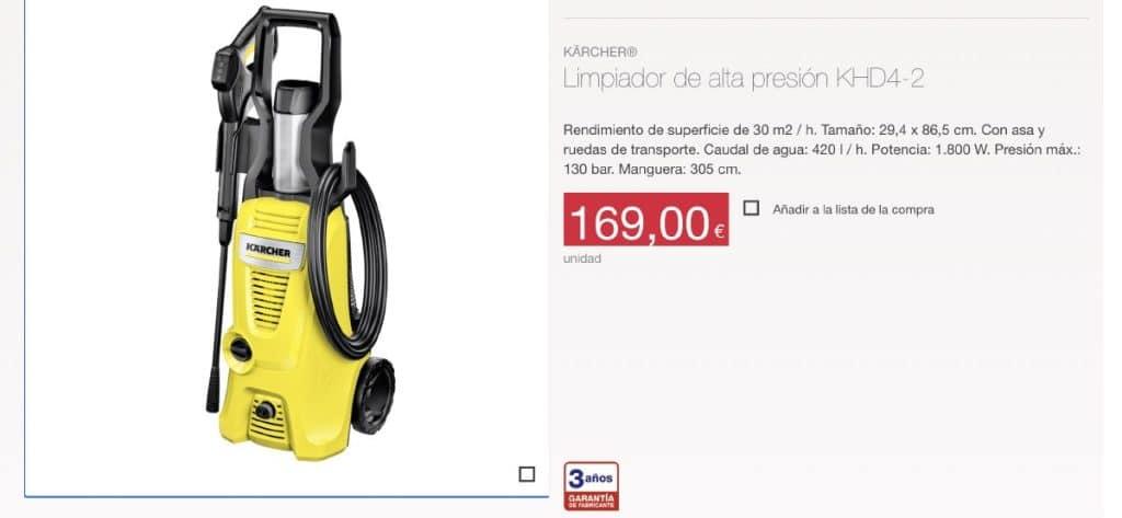 KaRCHER ALDI 1024x473 - Limpiador de alta presión KÄRCHER KHD 4-2 en Aldi