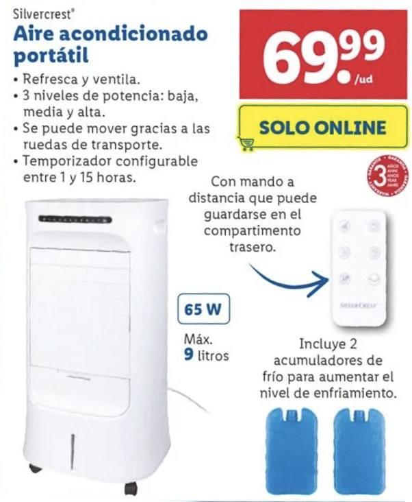 aire acondicionado portatil - Aire acondicionado portátil Lidl