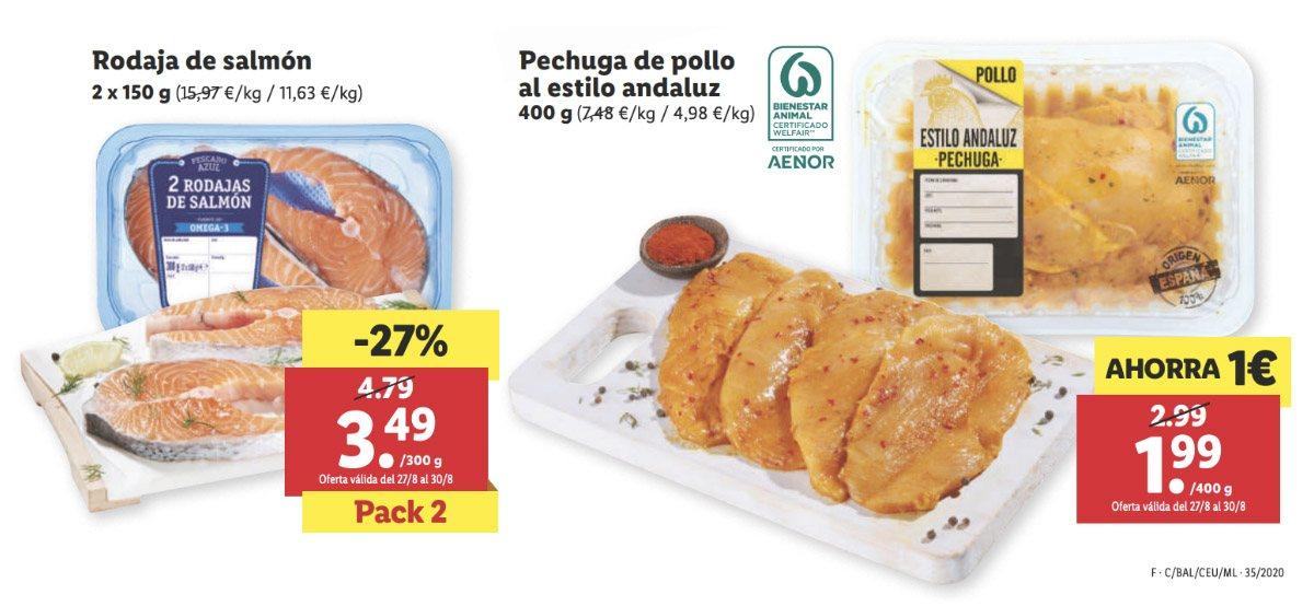 Catálogo alimentación Lidl a partir 27 agosto