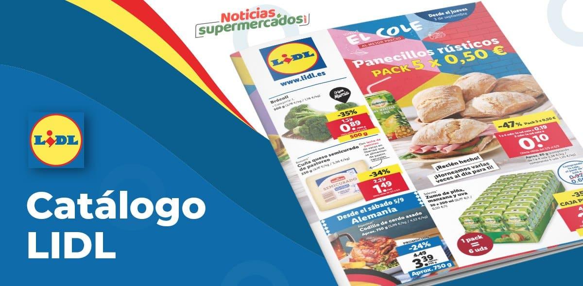 Catálogo Alimentación Lidl del 3 al 8 septiembre