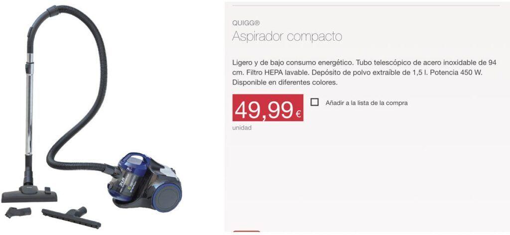 precio aspirador aldi quigg 1024x473 - Aspirador compacto de ALDI