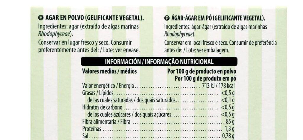 agar agar valor nutricional 1024x473 - Agar Agar Mercadona