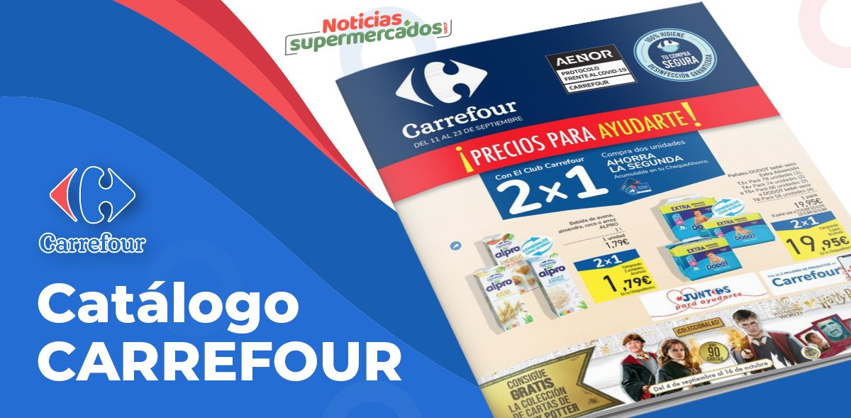 Folleto semanal 2x1 Carrefour del 11 al 25 septiembre