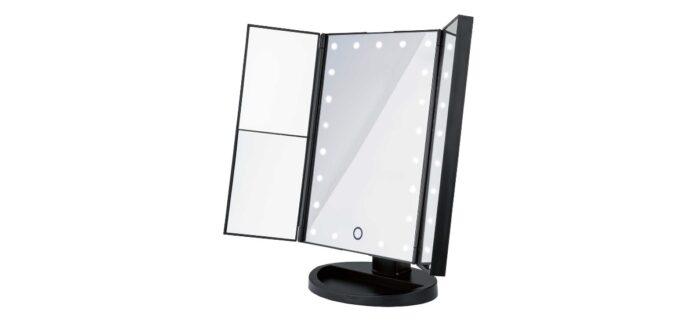espejo plegable led lidl