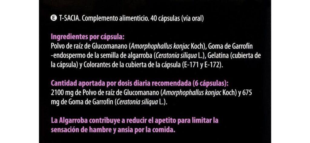 ingredientes capsulas tsacia 1024x473 - Cápsulas T-sacia Deliplus de Mercadona