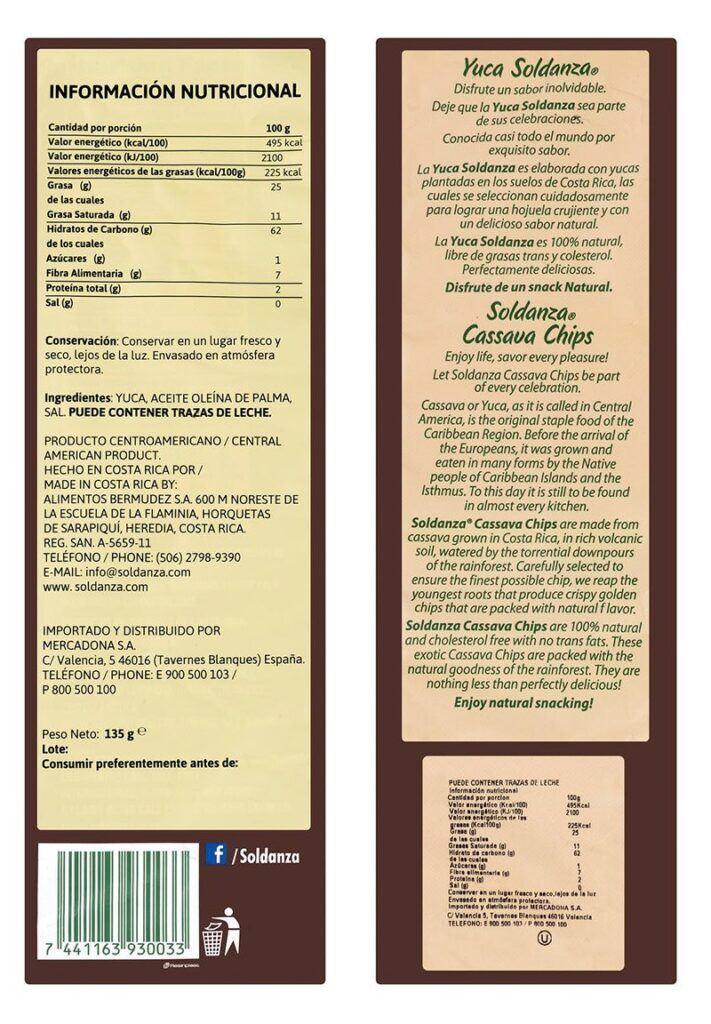 valor nutricional yuka frita 711x1024 - Yuca frita de Mercadona