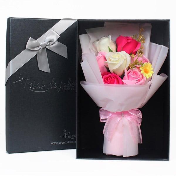 ramo rosas jabon rosa - Ramos de rosas de jabón al 50% en BlackFriday