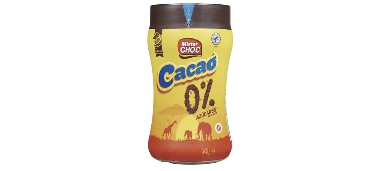 cacao soluble 0% azucares añadidos en lidl