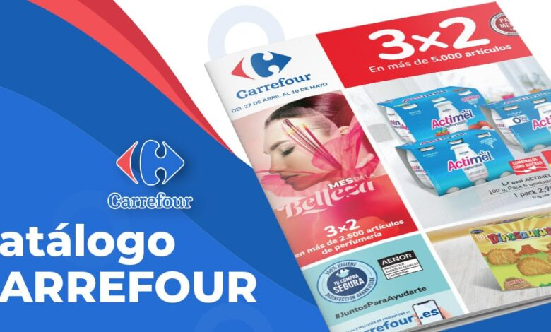 Folleto Carrefour 3x2 mayo