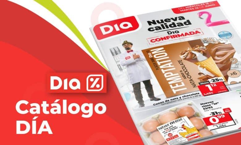 Catálogo online supermercados DIA hasta el 22 junio