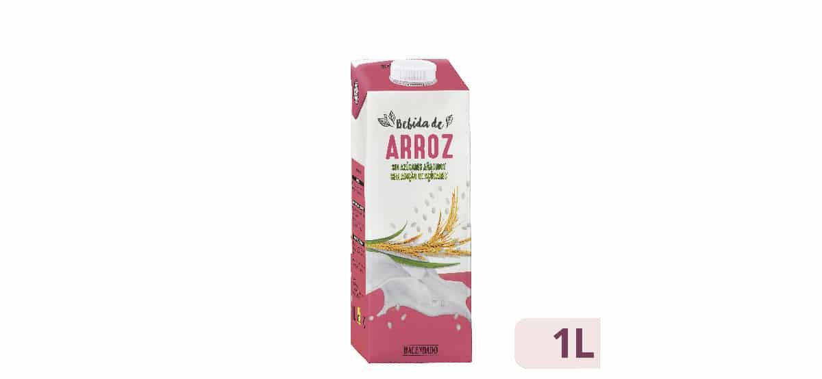 bebida de arroz sin azucares añadidos hacendado mercadona