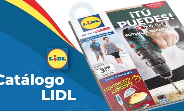 Folleto semanal de productos en Lidl