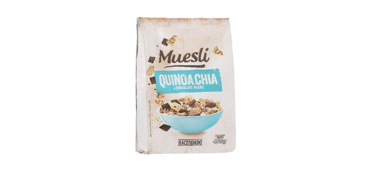 muesli con quinoa chia y chocolate negro hacendado mercadona